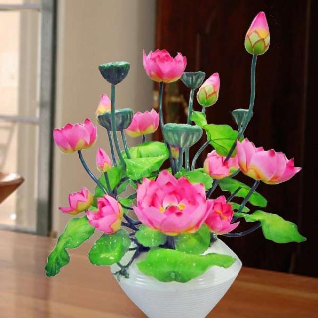 Artificiail Lotus Flowers Table Arrangement Part 32
