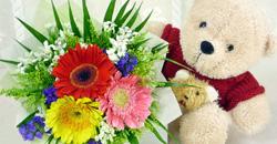 Bear & Flowers