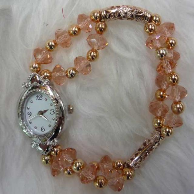 Champagne Crystal Watch
