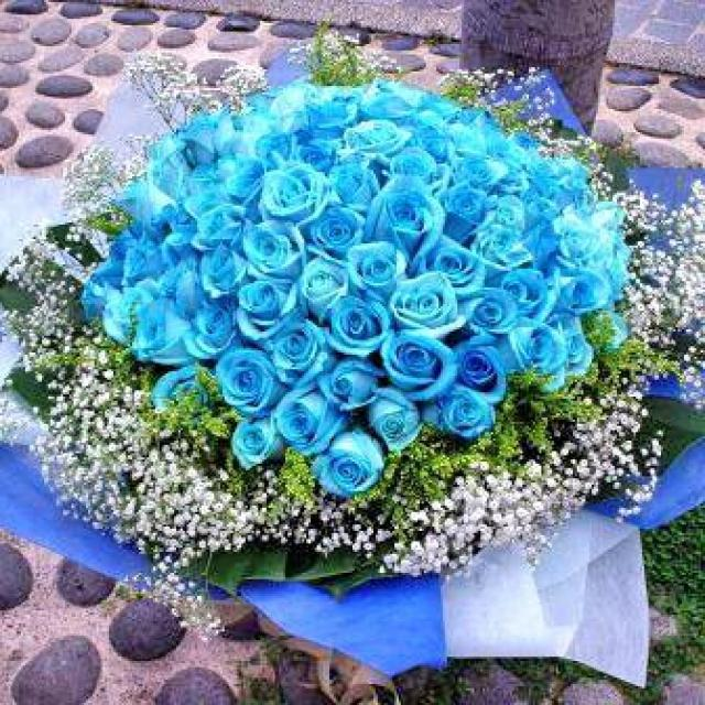 99 Blue Roses Bouquet Kindly Order 2 Days Advance Or Call Us