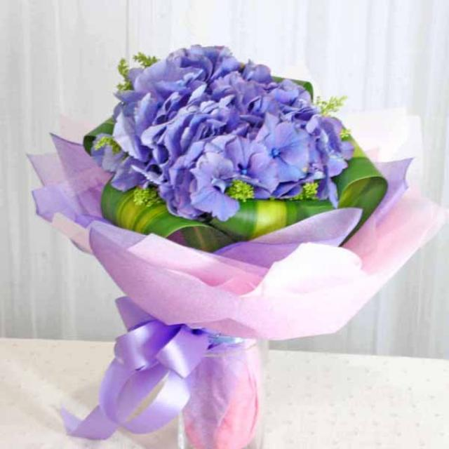 Hydrangea Blue Handbouquet. (need advance order)