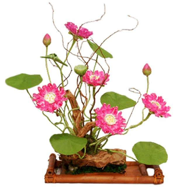 Hand made lotus arrangement