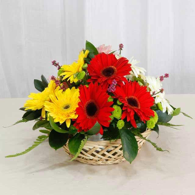 Mixed Gerbera Table Arrangement