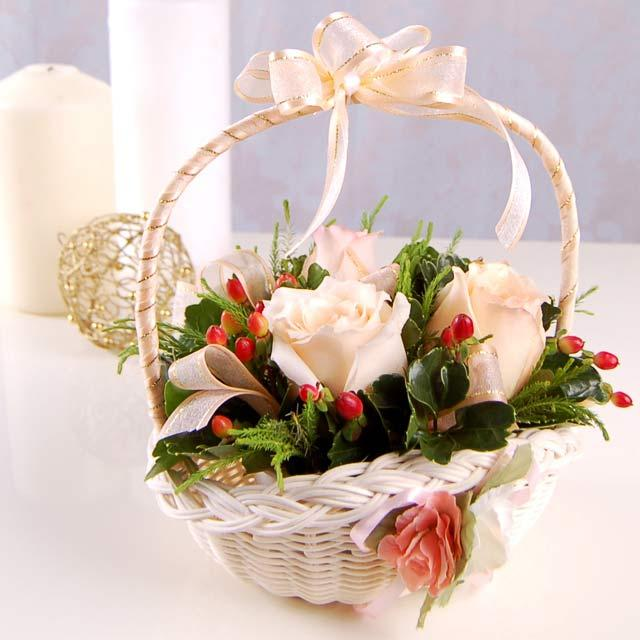 Rose Flower Basket
