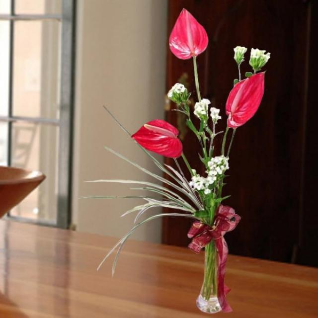3 Anthurium table arrangement--kindly order 1 day in advance