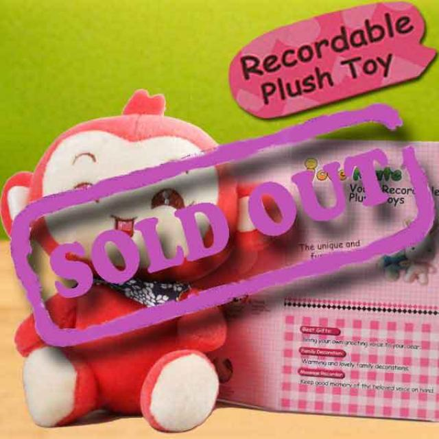 Add-on 6 inches Plush Toy with Voice Recorder