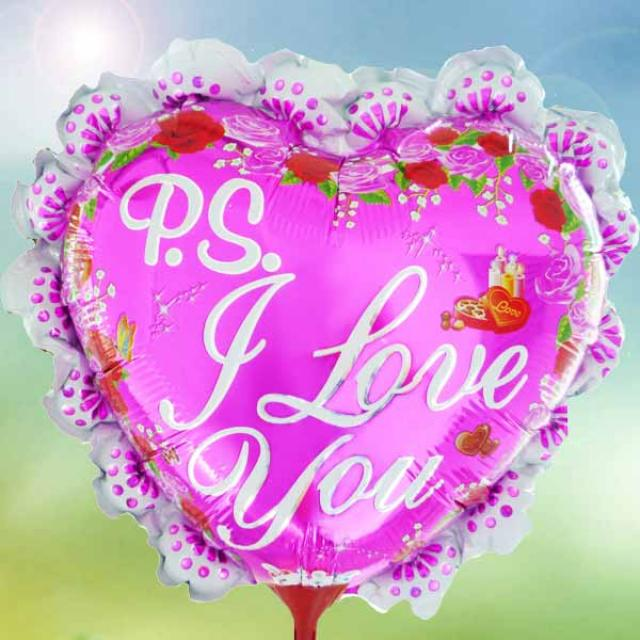 "Add-on 9"" I Love U Pink-Balloon"