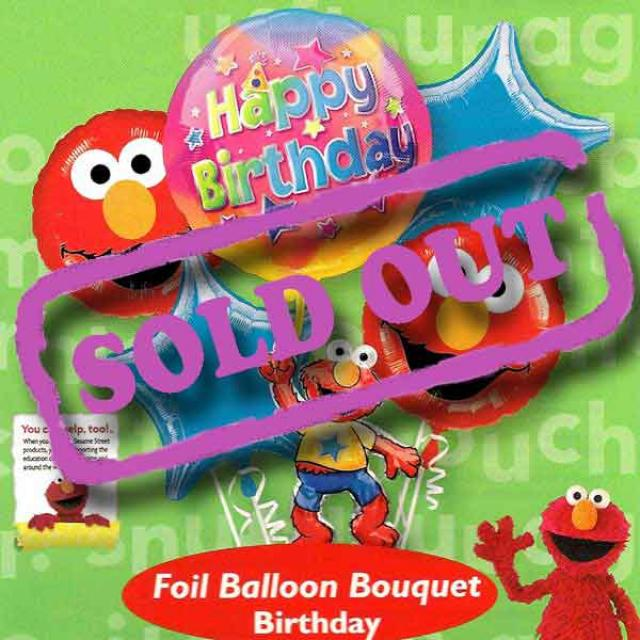 Elmo Birthday Floating Bouquet Balloon ( 5pcs )