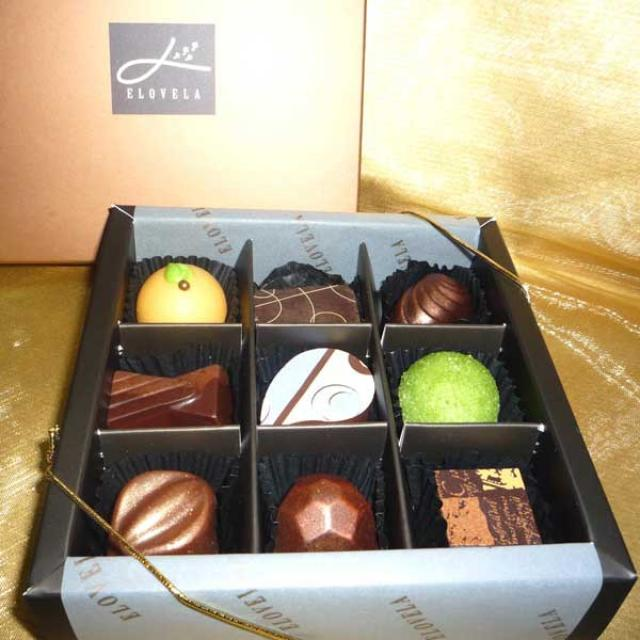 """Elovela"" Gourmet (Fresh)Chocolate 9 pcs (AC024d)"