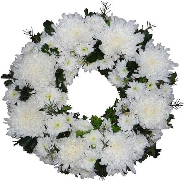 PomPom Wreath 30cm ( No Roses ) (without stand)