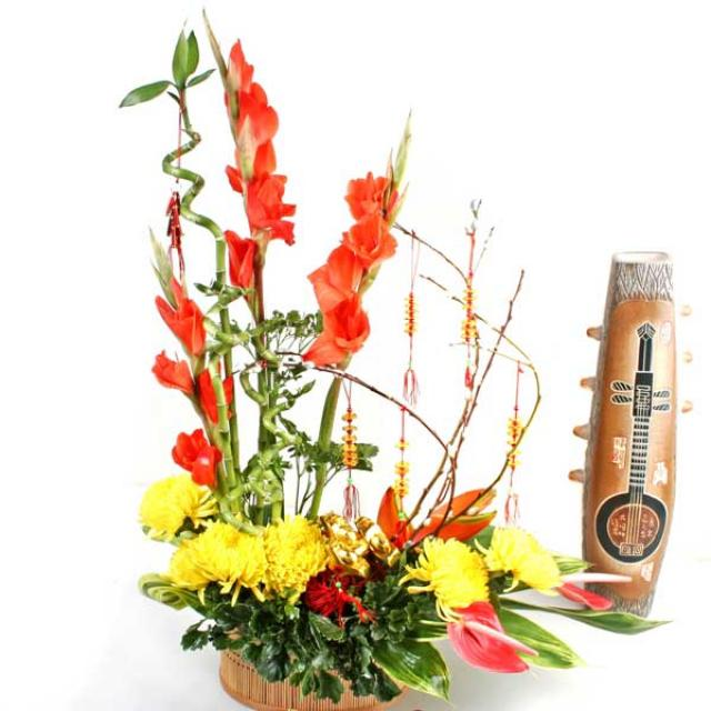 Chrysanthemum flower arrangement