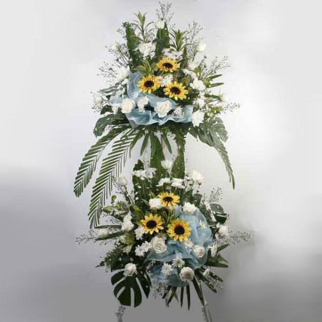 Artificial sunflowers & White Roses Arrangement Abt 5 feet Height