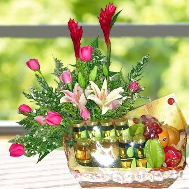 Pink Lilies & Roses, Fruits, Bird's Nest & Fish Essence