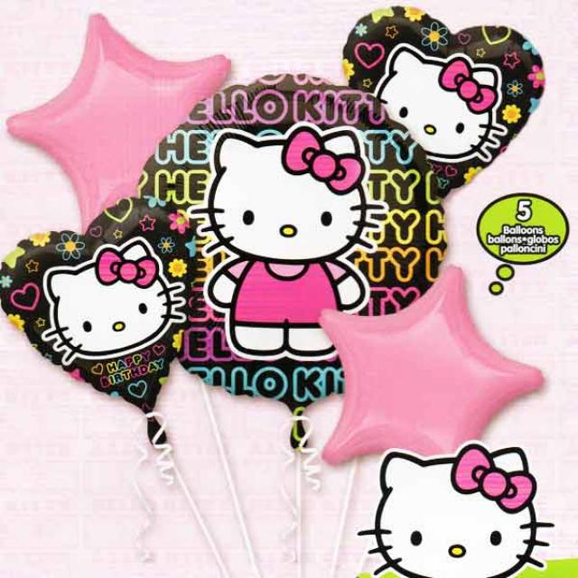 "18"" Helium Filled (Hello Kitty Bouquet) Mylar Floating Balloon"