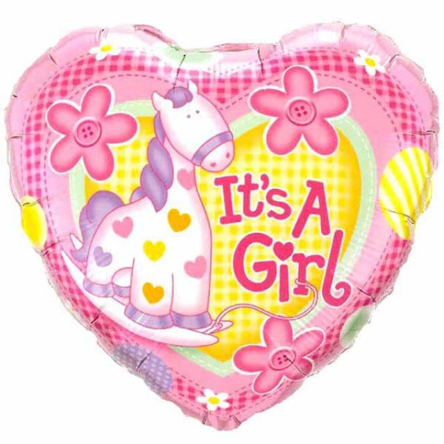 "Add-On It's A Girl 9"" Balloon"