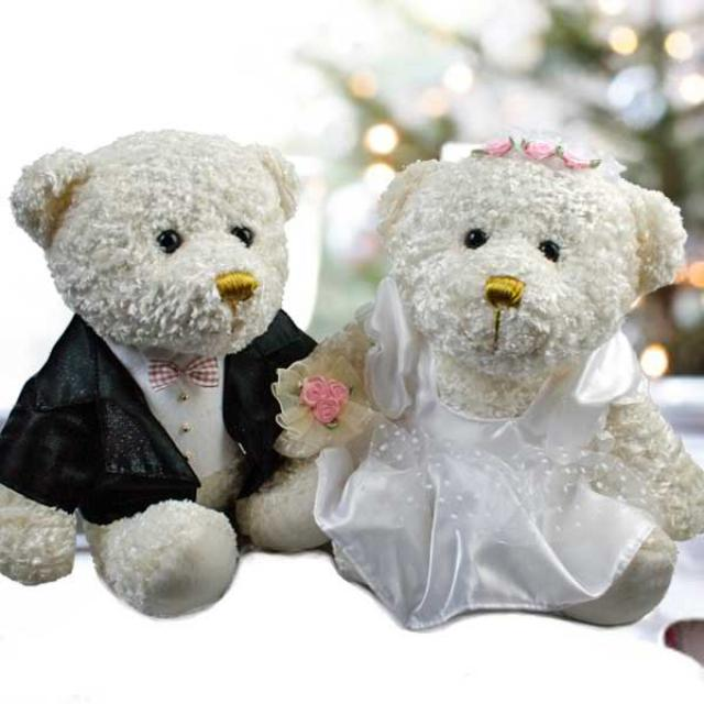 Add-On 10 inches Deluxe Wedding Bear
