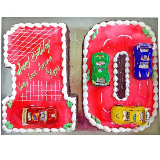 Add-On Number Cake 2 Kg