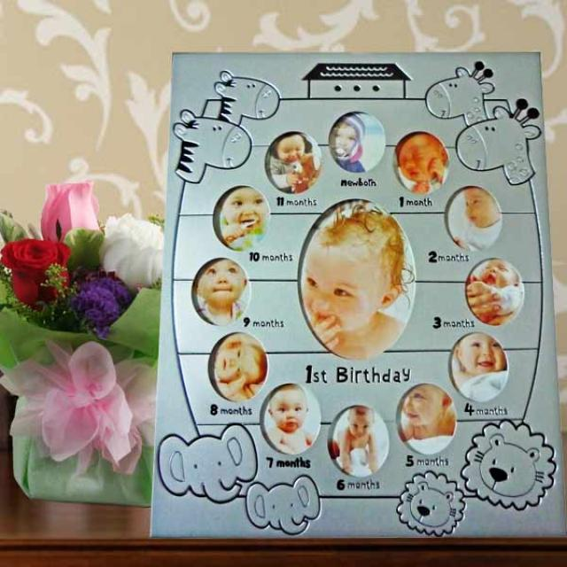 Baby Photo Frame & Roses