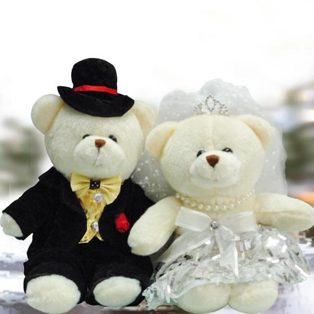 Add-on 16cm Couple Wedding Bear WDB009