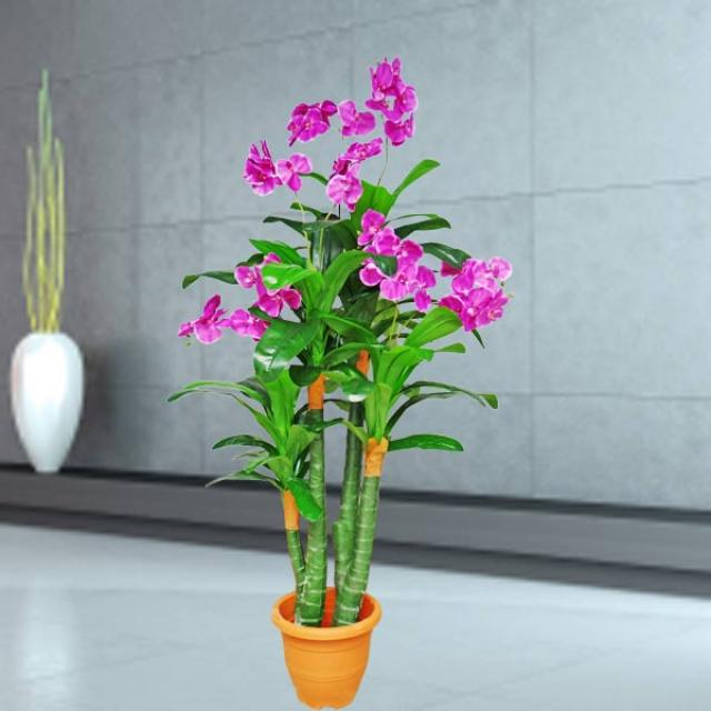 Artificial Phalaenopsis Orchids Tree 168cm