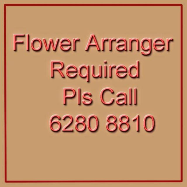 Looking For Flower Arranger Job?
