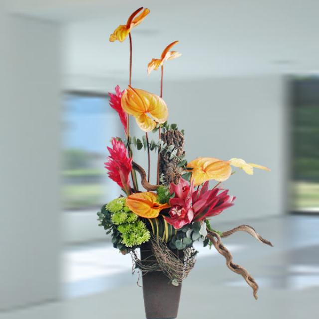 Orange Anthuriums & Ginger Flowers Special Arrangement