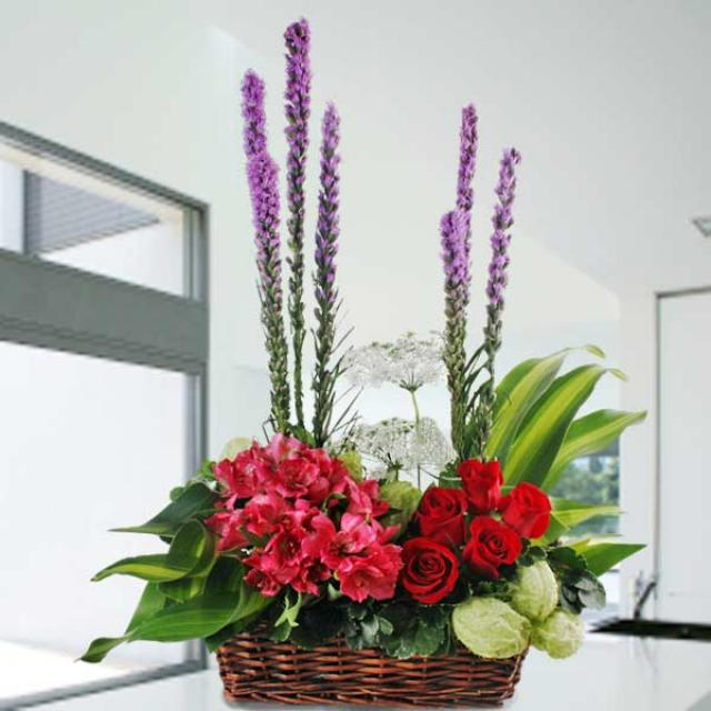 Astromelia & Roses Arrangement Delivery
