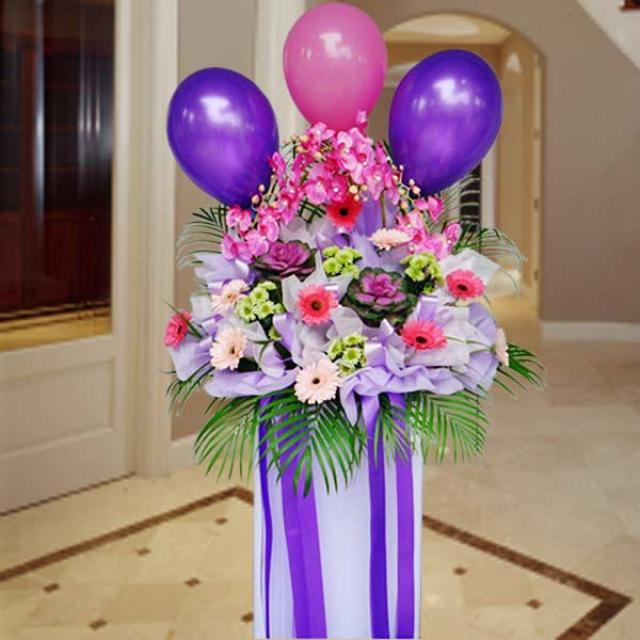 Artificial Orchids, Cabbage Flowers & Gerbera Opening Flower Arrangement