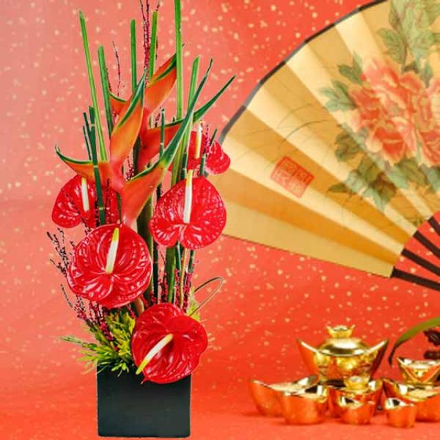 Lunar New Year Fresh Flowers Arrangement