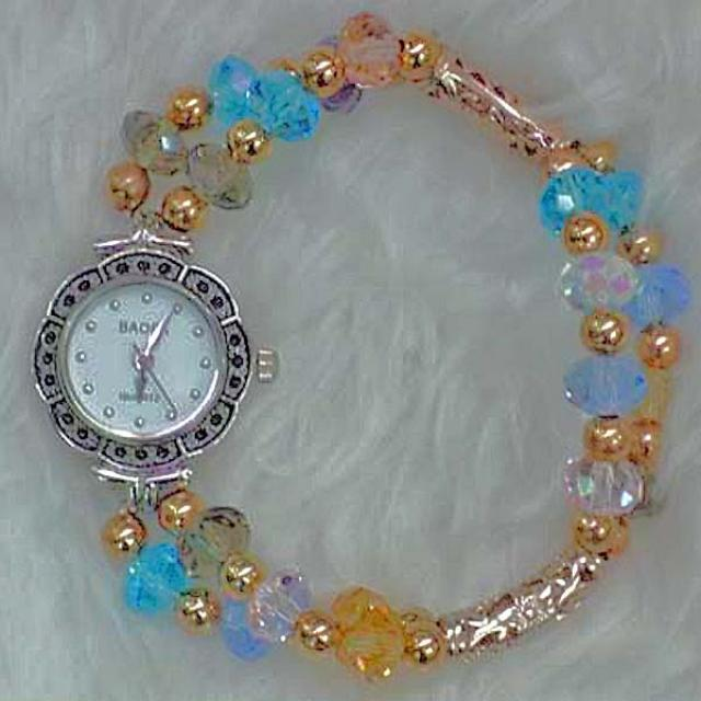 Mixed Color Crystal Watch.