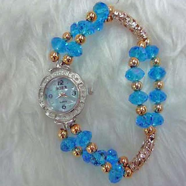 Blue Crystal Watch WA008