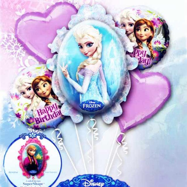 "Add-On ""Disney FROZEN"" Floating Helium Bouquet Balloons"