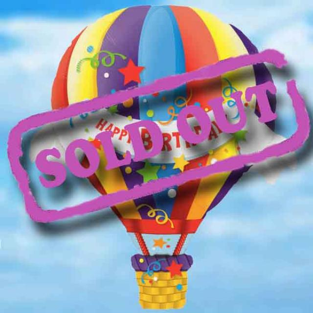 "Add-On 42"" Birthday Hot Air Balloon"