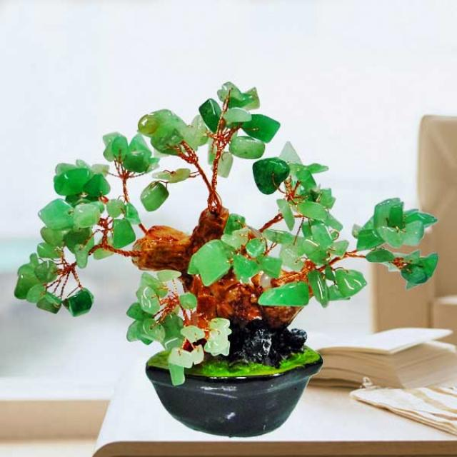 Jade Gemstone Bonsai Tree 10cm Height