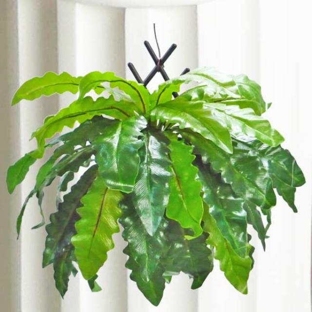 Artificial Bird's Nest Fern About 38cm Height