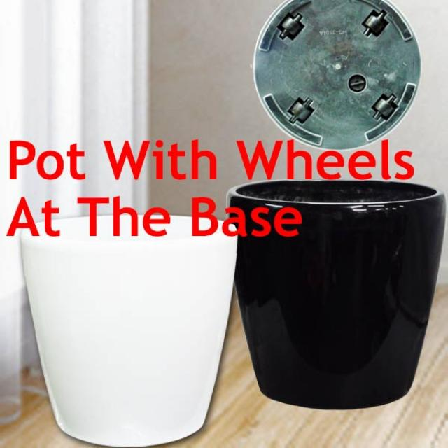 Add-On hydroponic Planter Pot with wheels 37cm Diameter