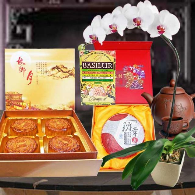 Ginseng, Pu-erh Tea & Single Yolk Lotus Paste MoonCake