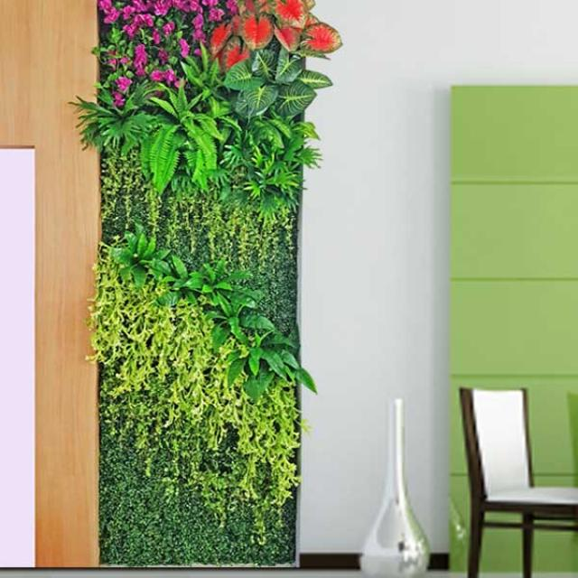 Artificial Vertical Garden Wall 1m x 3 m Height