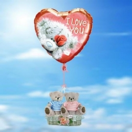Floating Balloon and pair of Love bear
