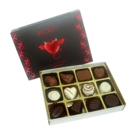 12 Pcs Exotic Assorted Chocolates as Romantic Gift