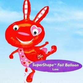 58cm x 102cm Helium Filled (Love Bunny) Mylar Floating Balloon.