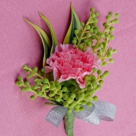 Pink Carnation Corsage ( Add-On Only, No Delivery )