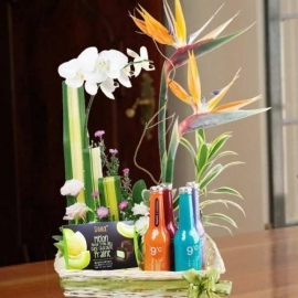 Hari Raya Gift Basket With Flowers