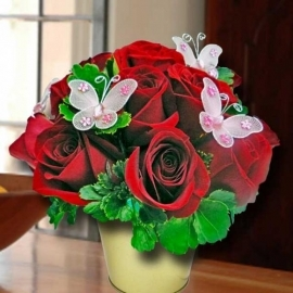 15 Red Roses Table Arrangement Delivery