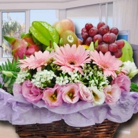 Flowers & Fruits Basket
