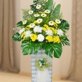 Gerbera Funeral Flowers Arrangement