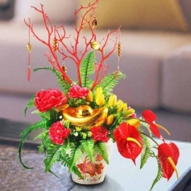Artificial Chinese New Year Peony Flowers Delivery