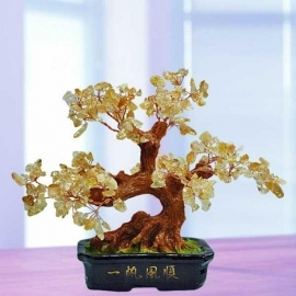 Feng Shui CITRINE Crystal Bonsai Tree 18cm Height