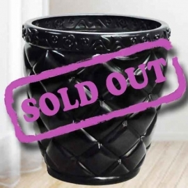 Add-On Black Plastic Planter Pot 34cm Diameter