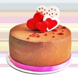Add-On Strawberry Chocolate Cake ( 6 inch round 750gm)